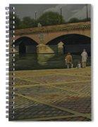 Waiting Paris France Spiral Notebook