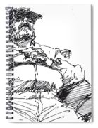 Waiting Room Nap Sketch Spiral Notebook