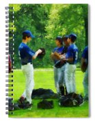 Waiting To Go To Bat Spiral Notebook