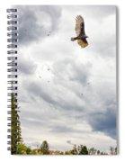 Waiting Turkey Vultures Spiral Notebook