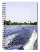 Wake From The Wash Of An Outboard Motor Boat In A Lagoon Spiral Notebook