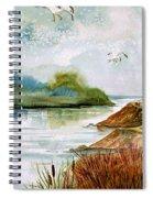 Walk Along The Shore Spiral Notebook