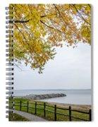 Walk Along The Shoreside Spiral Notebook