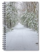 Walk In Snowy Woods Spiral Notebook