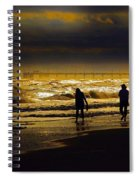 Walk In The Surf Colored Spiral Notebook