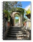 Walk In Vizcaya Gardens Spiral Notebook