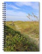 Walk To The Beach Spiral Notebook