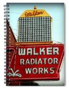 Walker Radiator Works Sign Spiral Notebook