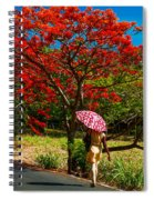 Walking Along The Road. Mauritius Spiral Notebook