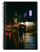 Walking Home In The Rain Spiral Notebook