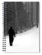 Walking In A Winter Wonderland Spiral Notebook