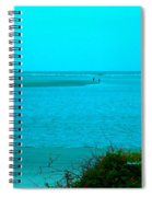 Walking In The Water At Isle Of Palms Spiral Notebook