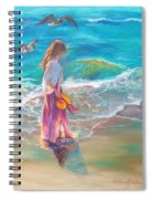 Walking In The Waves Spiral Notebook