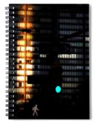 Walking Man - Architecture Of New York City Spiral Notebook