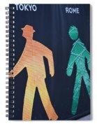 Walking Man Symbol Spiral Notebook