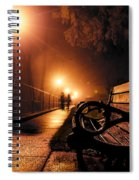 Walking On A Misty Evening Spiral Notebook