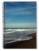 Walking On Seaside Beach Spiral Notebook