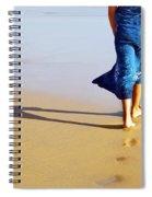 Walking On The Beach Spiral Notebook
