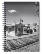 Walking On The Boardwalk In Black And White Walt Disney World Spiral Notebook