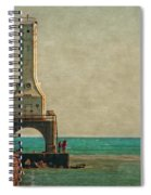 Walking On The Breakwater Spiral Notebook