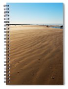 Walking On Windy Beach. Spiral Notebook