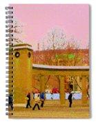 Walking Sherbrooke By Roddick Gates Mcgill Campus View Of Mont Royal Montreal Scenes Carole Spandau  Spiral Notebook