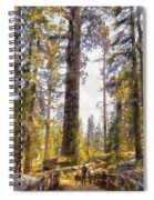 Walking Small In The Tall Forest Spiral Notebook