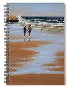 Walking The Beach Spiral Notebook