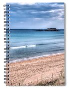 Walking The Beach On A Peaceful Morning Spiral Notebook