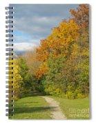 Walking Through Autumn Spiral Notebook