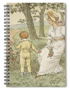 Walking To Mouseys Hall Spiral Notebook