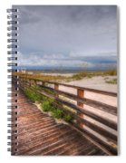 Walkway To The Beach At Romar Access Spiral Notebook
