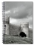 Wall Against Clouds Spiral Notebook