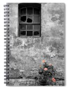Window And Flowers Spiral Notebook