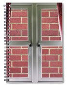 Wall Build Close To A Closed Window Spiral Notebook