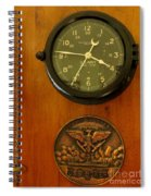 Wall Clock And Plague Spiral Notebook