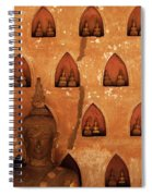 Wall Of Buddhas Spiral Notebook