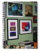 Wall Of Framed Spiral Notebook