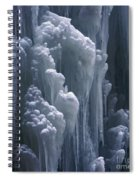 wall of ice in Partnach gorge 3 Spiral Notebook