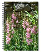 Wall Of Snapdragons Spiral Notebook