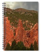 Wall Of The Gods Spiral Notebook