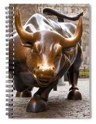 Wall Street Bull Spiral Notebook