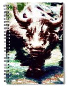 Wall Street Bull - Typography Spiral Notebook