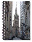 Wall Street Leading To Trinity Church Spiral Notebook
