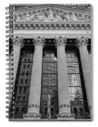 Wall Street New York Stock Exchange Nyse Bw Spiral Notebook