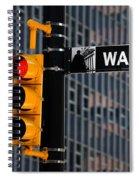 Wall Street Traffic Light New York Spiral Notebook