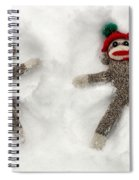 Wally And Petey Snow Angels Spiral Notebook