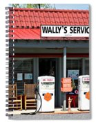 Wally's Service Station Mayberry Nc Spiral Notebook