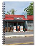 Wallys Service Station Mt. Airy Nc Spiral Notebook