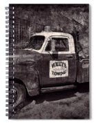Wally's Towing Bw Spiral Notebook